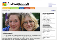 Website Andreasgemeinde